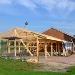 Bau der Überdachung Vereinsheim